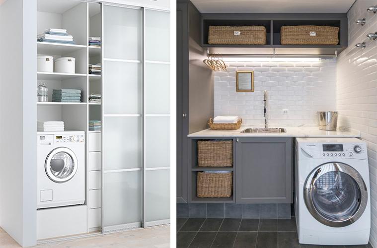 Idee per la lavanderia ohmydesign for Piccoli piani cabina con soppalco e veranda