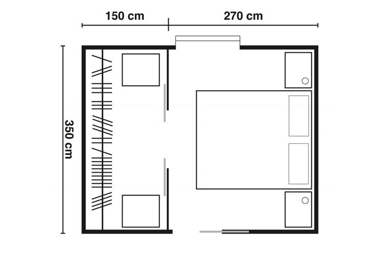 Cool progetto camera con bagno xu23 pineglen - Progettare la camera da letto ...