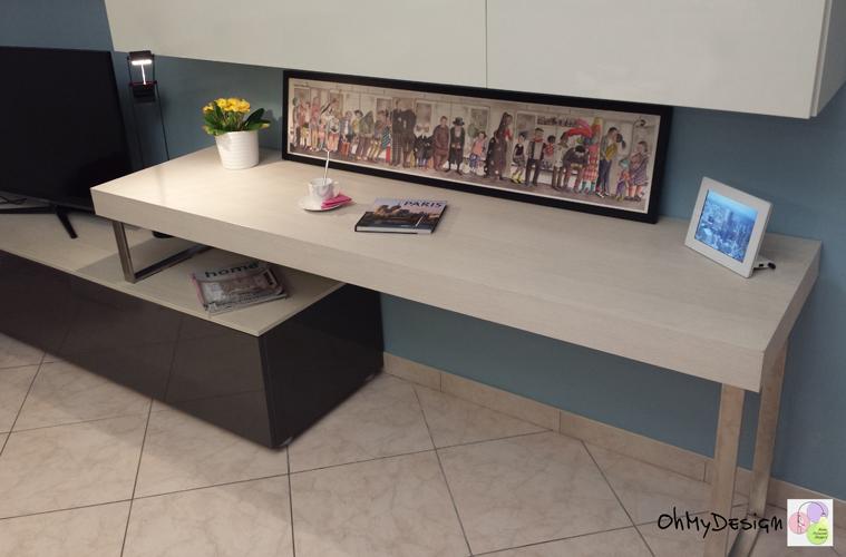 Come organizzare la scrivania in soggiorno ohmydesign for Scrivania soggiorno