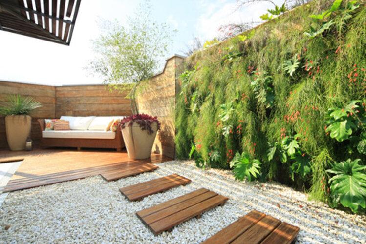Giardino verticale terrazzo