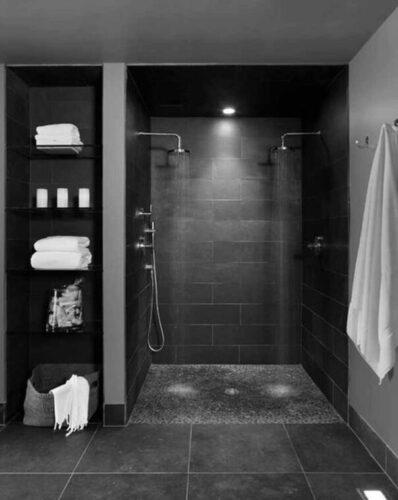 bagno in nero