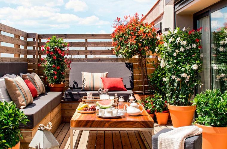terrazzo in fiore